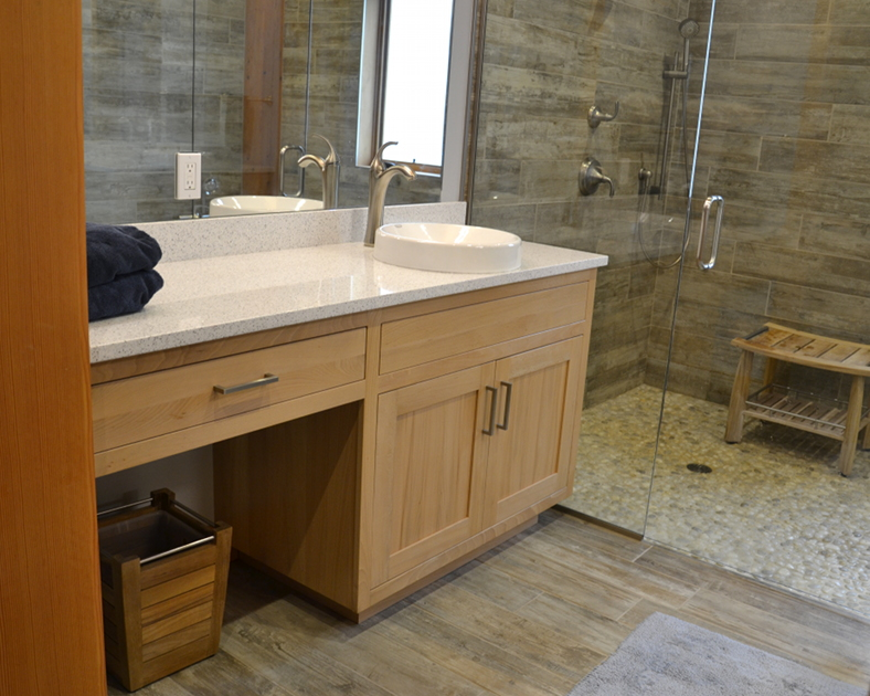 Reclaimed American Gothic Beech Bathroom Cabinetry