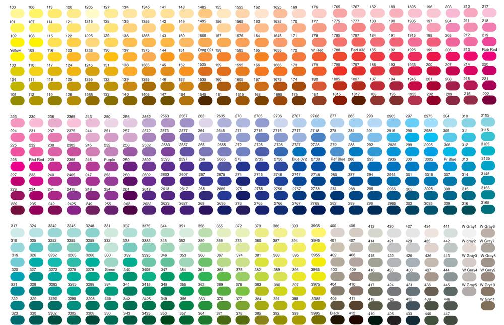 PMS Color Chart — Paper Crew