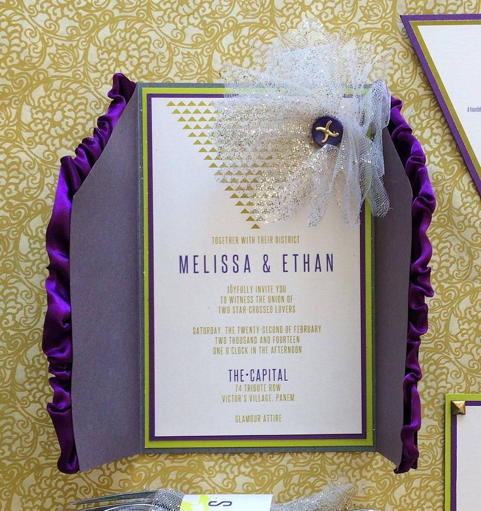 Hunger Games Inspired Wedding Invitation