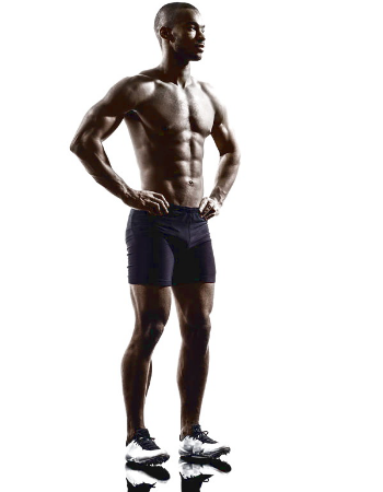 male sprinter standing up straight - Ultimate Health Personal Trainer Studio City, CA