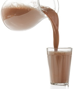 chocolate milk pouring into glass from pitcher - Ultimate Health Personal Trainer Toluca Lake