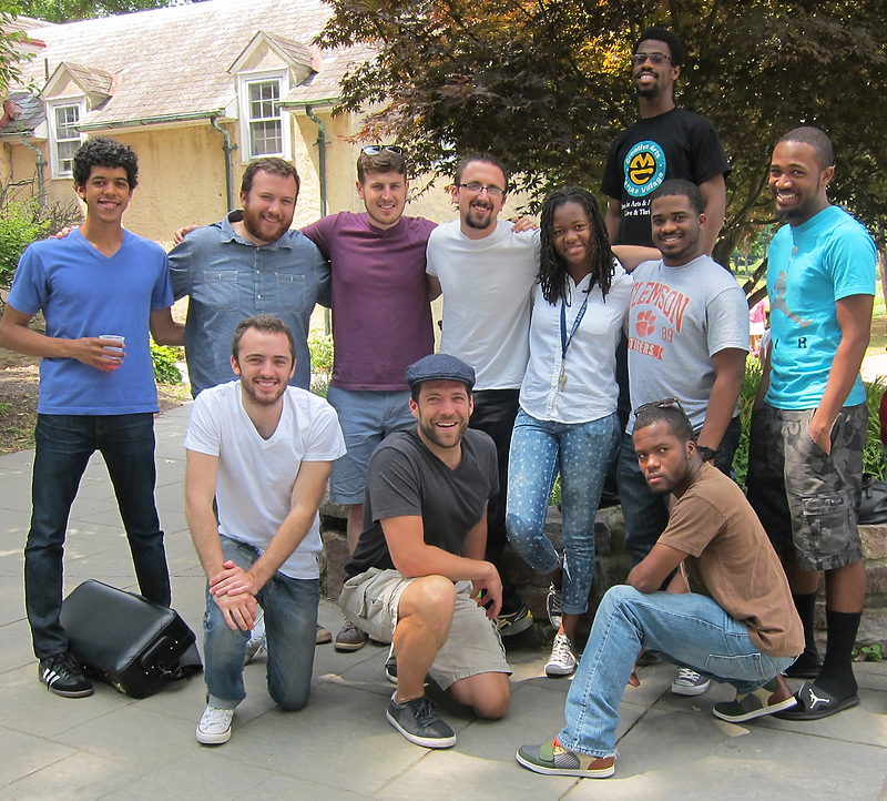 From left to right: (top row) Alex Cummings, Matthew Krist, myself, Jake Silverman, Arnetta Johnson, Daniel Spearman, Reggie Lewis, Lawrence Galloway (bottom row) Cory Todd, John Beacher, Micah Johnson