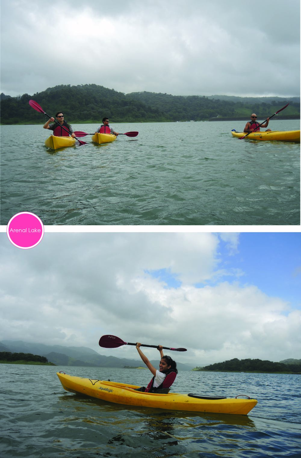 I did it! Wooo! Thats us kayaking Lake Arenal.