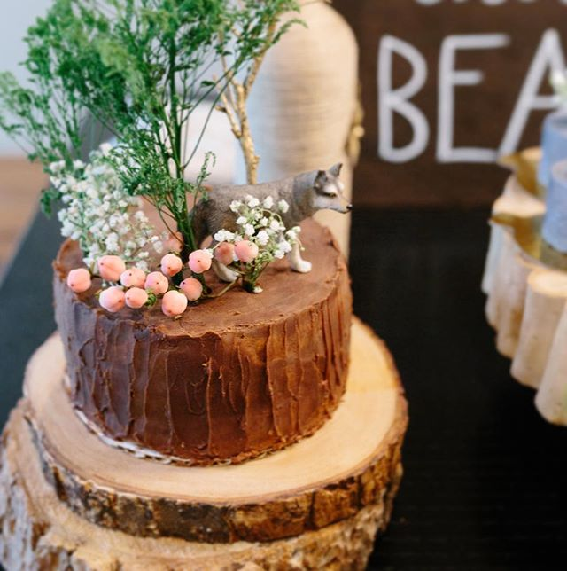 Annndd we're back and starting to take orders! (We got a cutey new member to our team. Pic of our baby boy coming soon.) Until then, here's the cake we helped @thesweetspotnyc make for our woodland baby shower. Photo taken by Mark from @latham.photography
