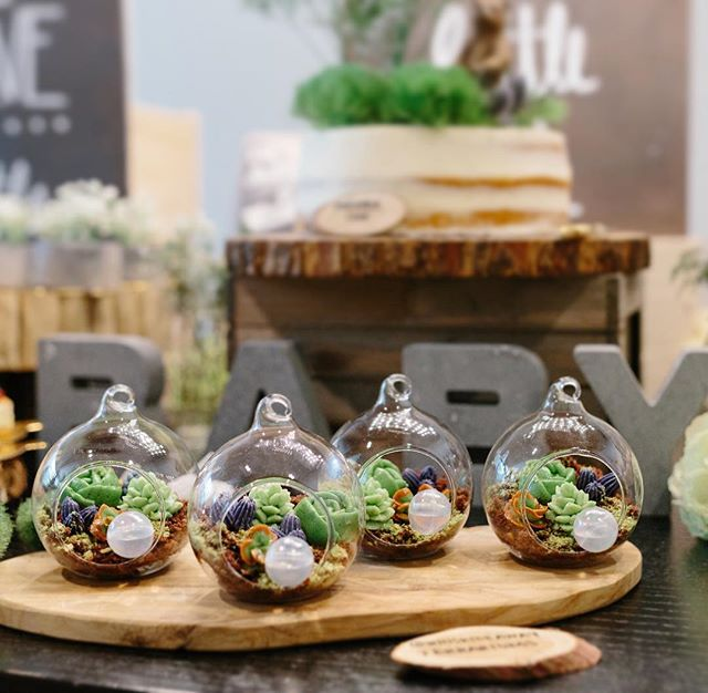 Nope, they aren't real terrariums. They're edible :) think of it like a deconstructed cake inspired by California living. Photo cred: @latham.photography