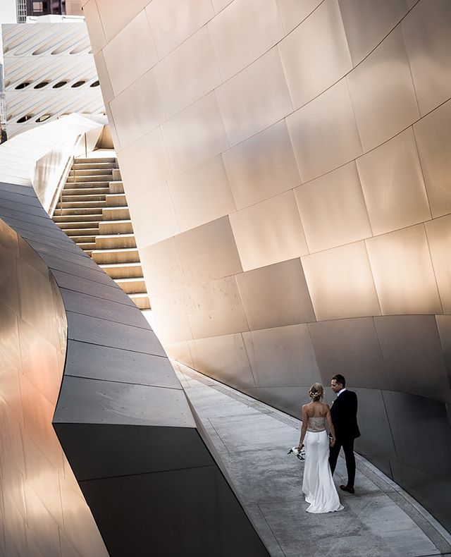 I was so excited these lovebirds wanted to go to Disney Concert Hall. It's a playground for photographers. 💕