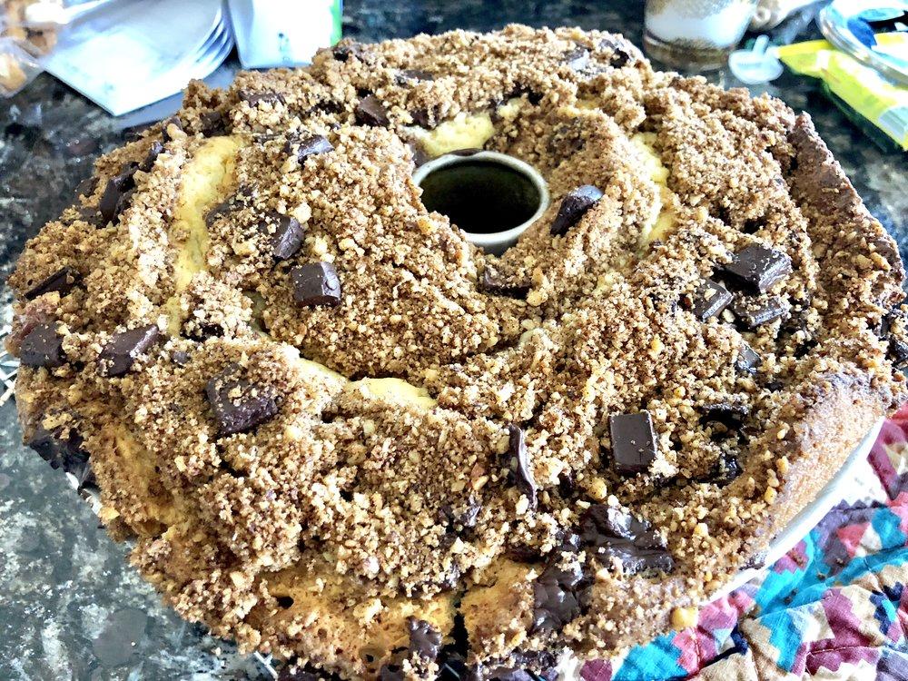 Chocolate Chunk Cinnamon Coffee Cake Jewtalian Erica Bethe