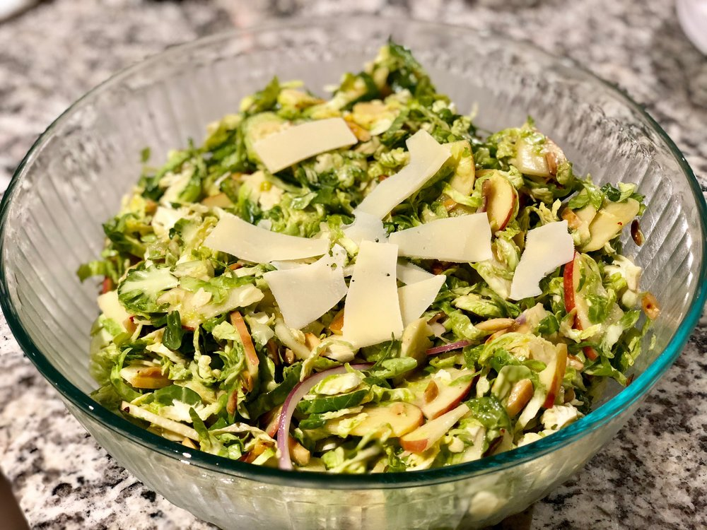 Brussels Sprouts and Apple Salad Erica Bethe Jewtalian