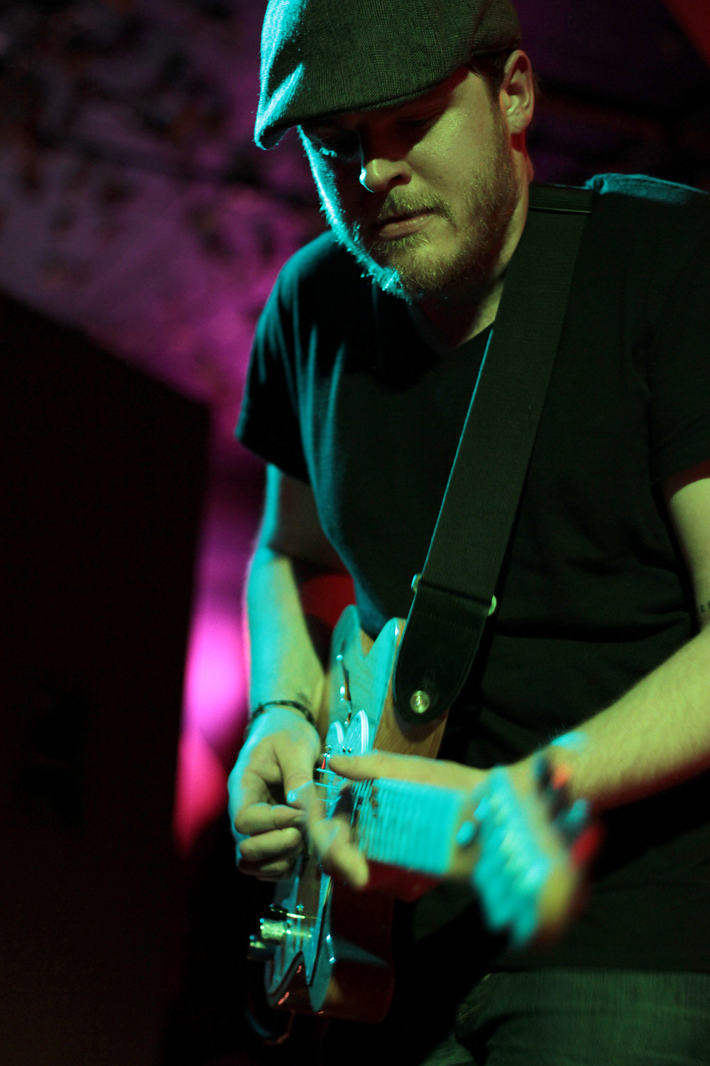 Viper Creek Club guitarist Brandon Jensen at the Comet Tavern in Seattle.