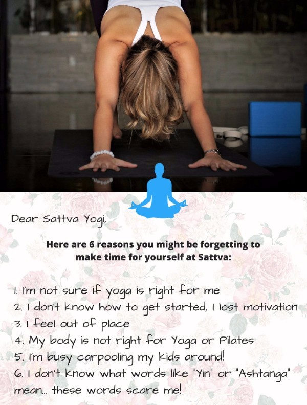 6 reasons you might be forgetting to make time for yourself at sattva