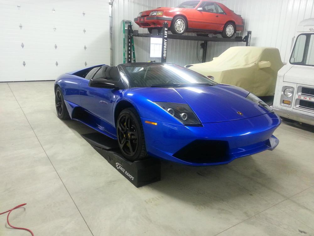 Lambo's Sweet Paint Protected by Clear Bra