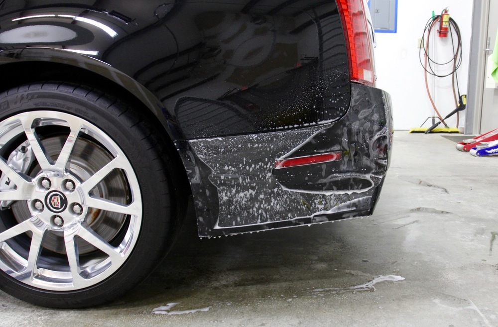 We also apply paint protection films to high wear areas of the paint like behind the rear wheels, the edges of the doors, the door handle cup areas, the door sill thresholds and the top of the rear bumper trunk ledge.