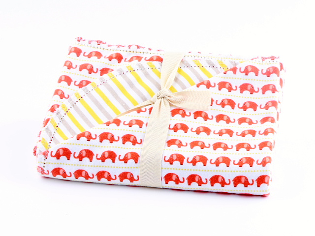 Elephants n Stripes by Riley Blake Design C745 - Banana Yellow P5722 - Orange