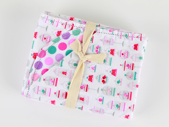 Birdies and Dots by Riley Blake Design C3326 - Salmon Pink P53805 - Hot Pink