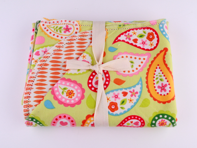 Citrus Paisley by Riley Blake Design C3326 - Salmon Pink P5722 - Orange