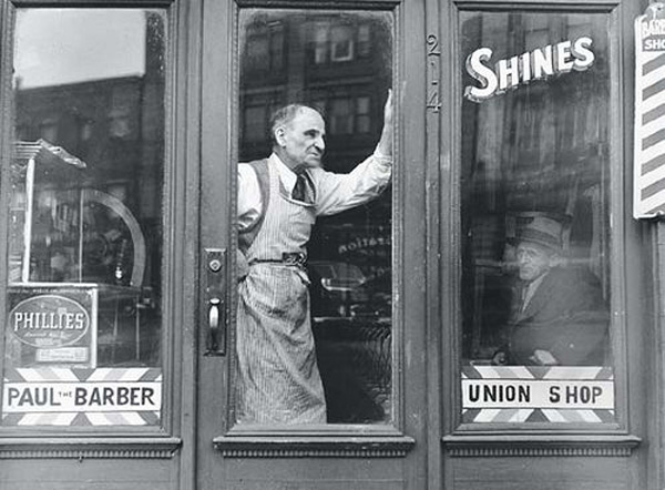 Paul the Barber by Jules Aarons 1950s Boston MA