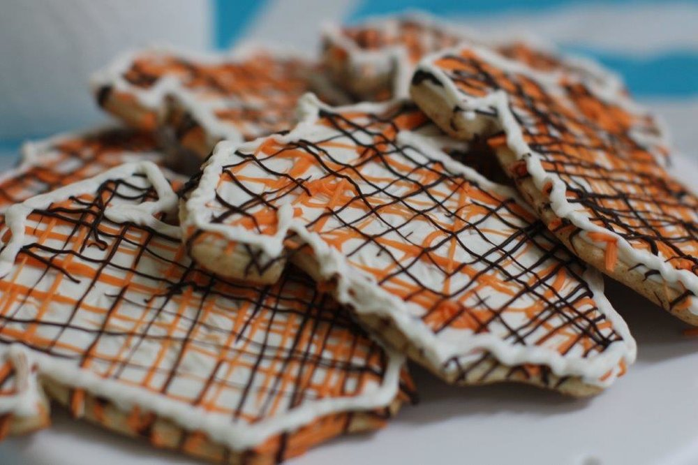 Onesie Cookies from Pumpkin set up