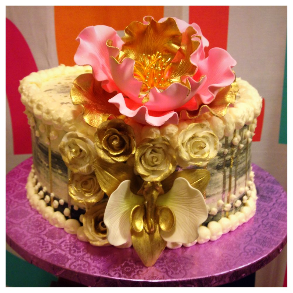 Flower Drama! 9inch birthday cake $195