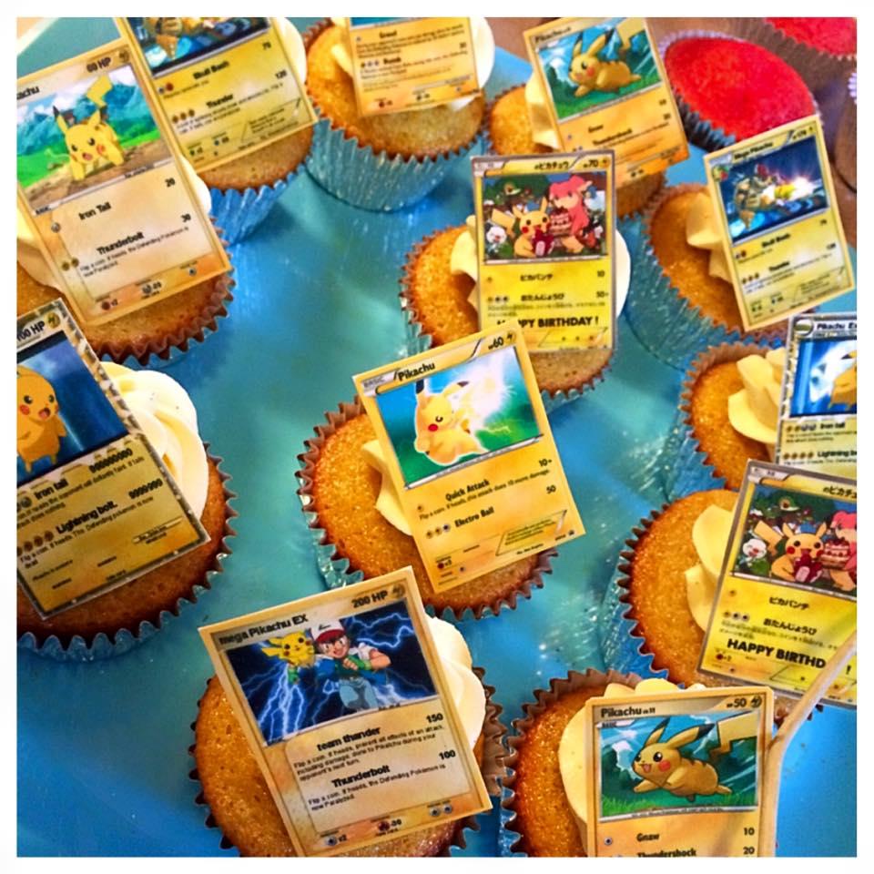 edible pokémon card cupcakes $60 per dozen.