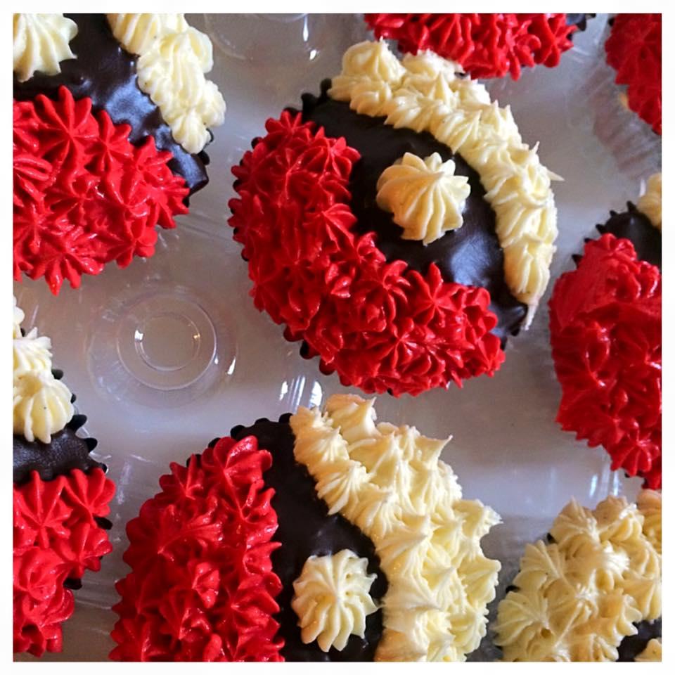 pokéball cupcakes $50 per dozen