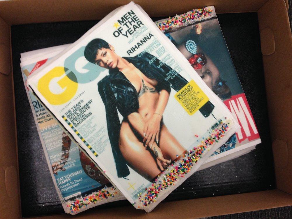 Rihanna Magazine Stack Cake