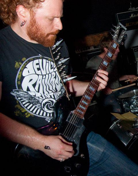 Ryan Lesser playing in Megasus at the Acheron, Brooklyn. Photo by BBG
