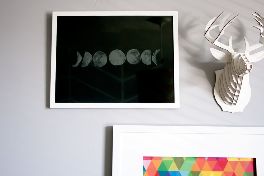 Make your own moon phases print.
