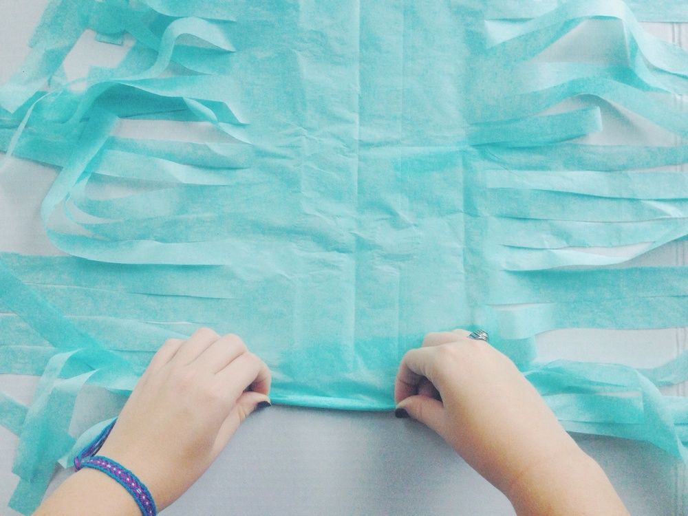 My Only Sunshine Blog || DIY Tissue Garland