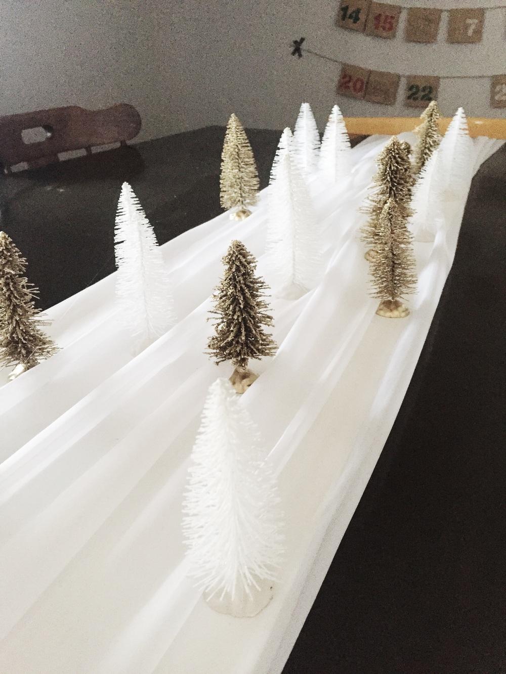 DIY Christmas Tree Table Runner