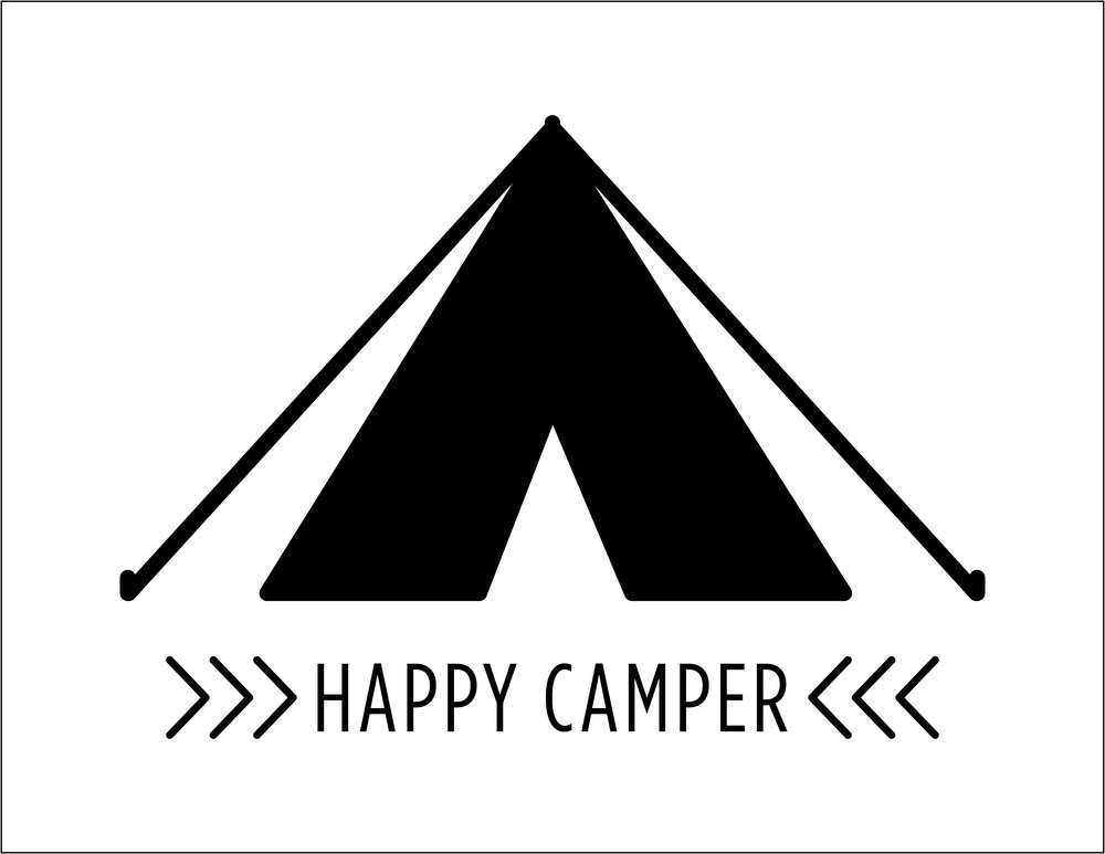 Free Happy Camper Printable (click through for download)