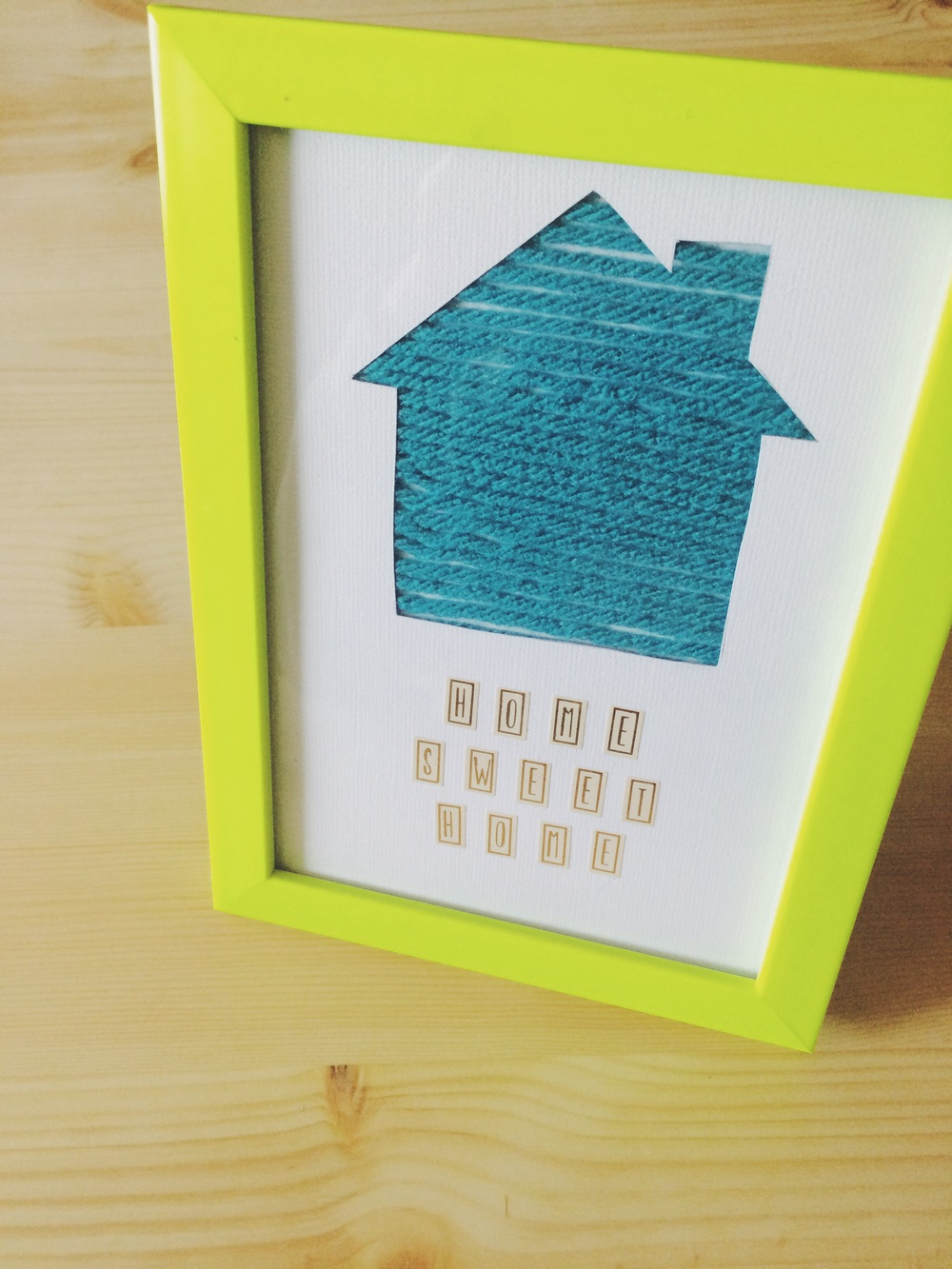 Home Sweet Home Diy + Printable. Click through for details.