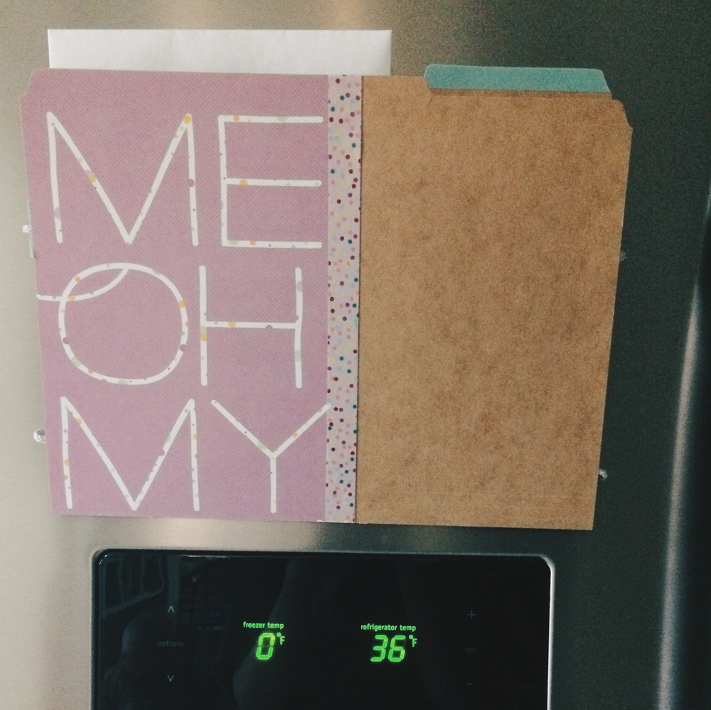 Diy Fridge Folder. Click through for details.