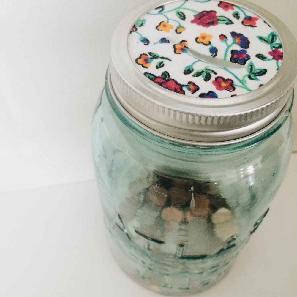 Money Jar. Click through for instructions.