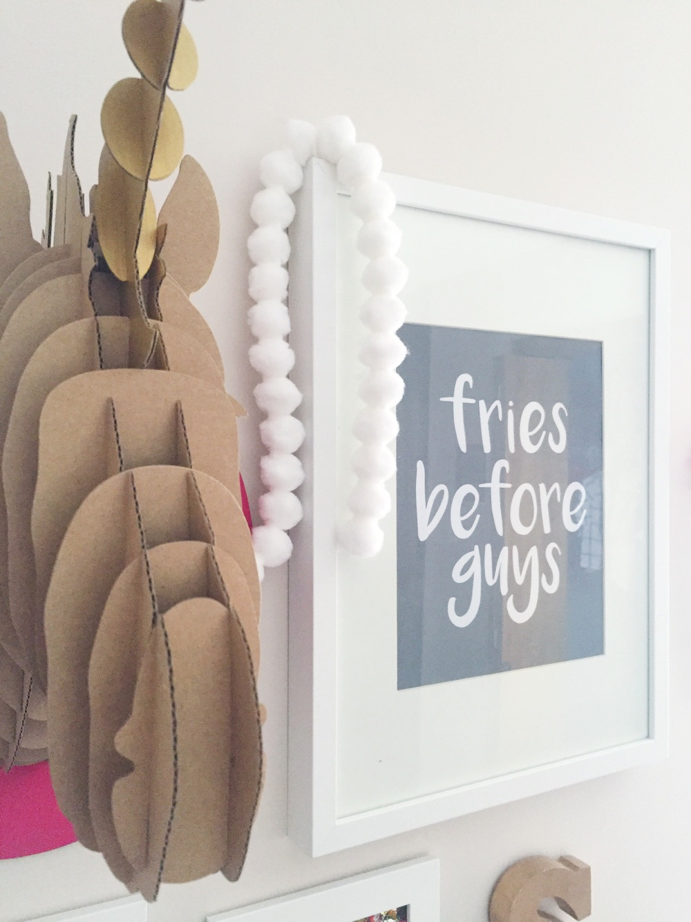 "Friday Fun: Free ""fries before guys"" Printable 