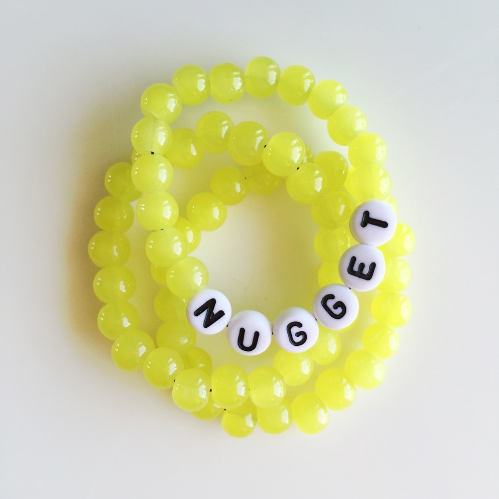 Make mini name bracelets for your little one.