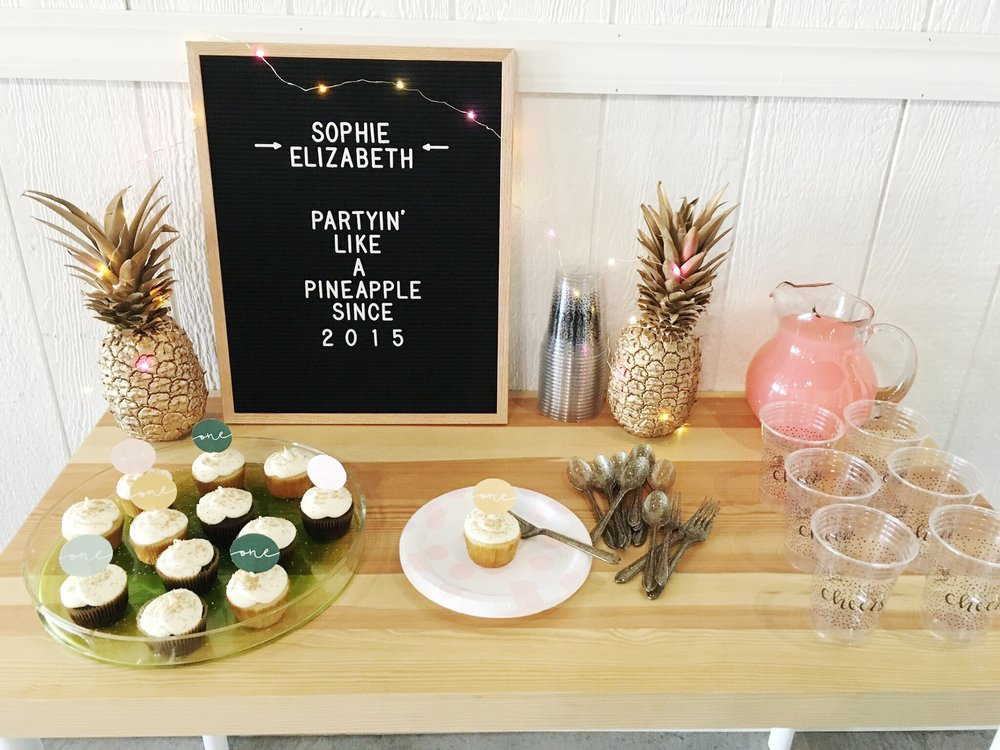 Party Like a Pineapple - DIY First Birthday | My Only Sunshine
