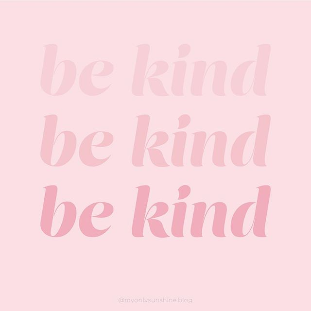 Let's focus on being kind today💕 Not only to those around us, but to ourselves too. This design is also in a phone wallpaper on the blog. Just use the link in my bio.