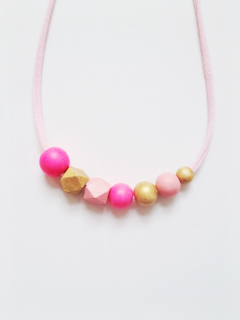 Coral and Cloud spring 2015 collection - handmade girls necklace The Madeline