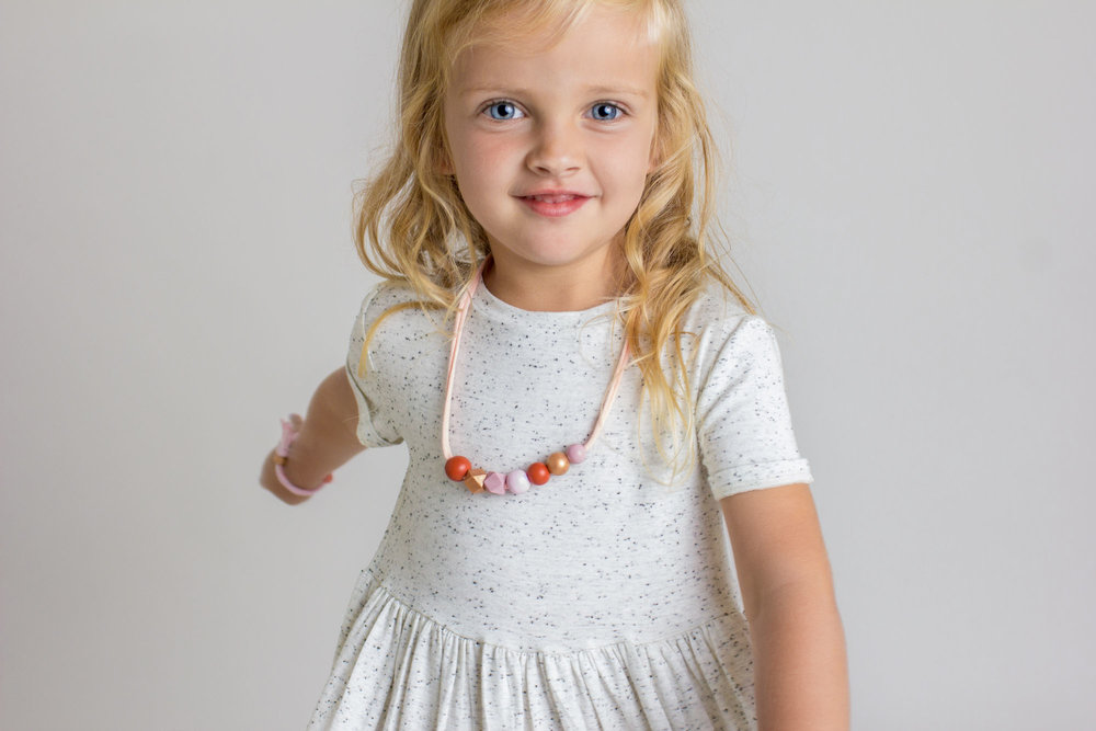 Gorgeous Mia in The Penny petite necklace and  Emerson Apparel  dress