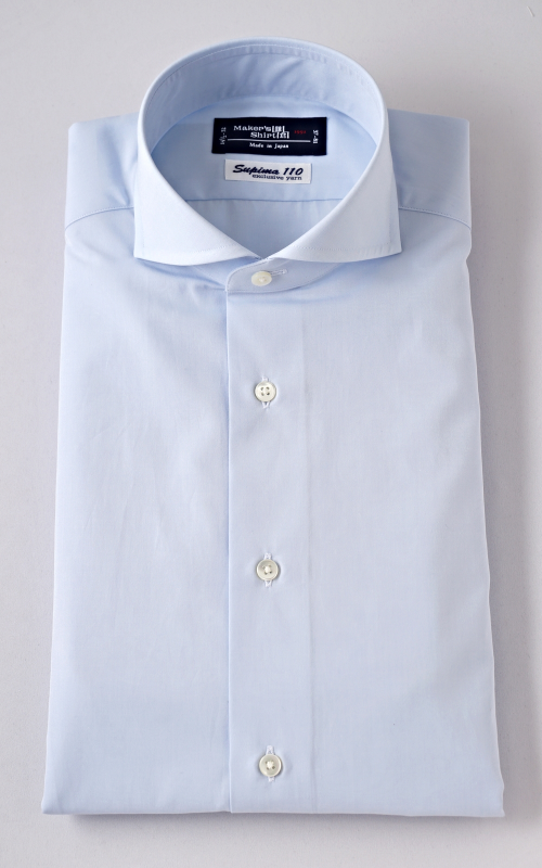 Kamakura Shirts. Tokyo Slim Fit in a cutaway collar.