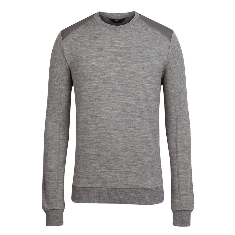 Rapha Merino Sweatshirt: Sturdy and warm.
