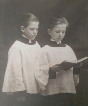 My grandfather as a choir boy.