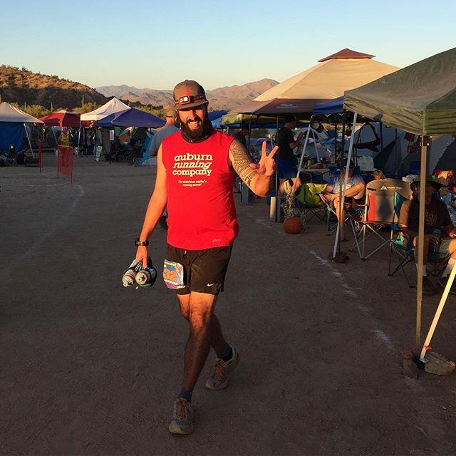 @trailwhisperer at the 41 mile mark! Still feeling good! #javalinajundred #100miles