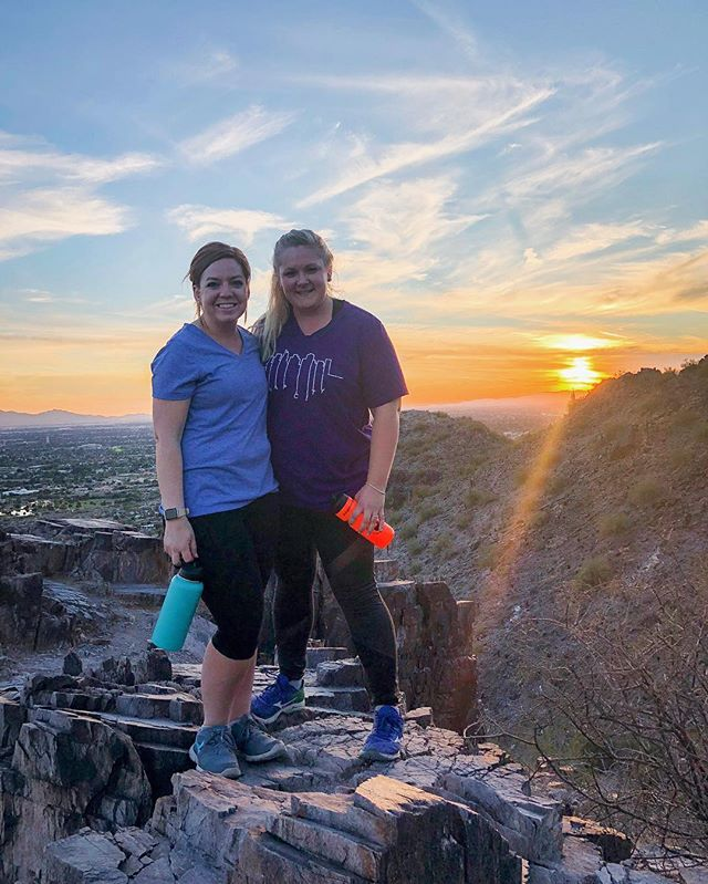 An impromptu #mountianmonday girls night hiking Piestewa Peak! I think it's safe to say Arizona offers some amazing perks @rachelpatton being one of them! Rachel I'm so grateful to have gotten to call you Co this year! You have been such a blessing to get to learn from and serve alongside! Thanks for the fun night out including some of my favorite things - the outdoors, fish tacos, and shopping (without children)! Haha!