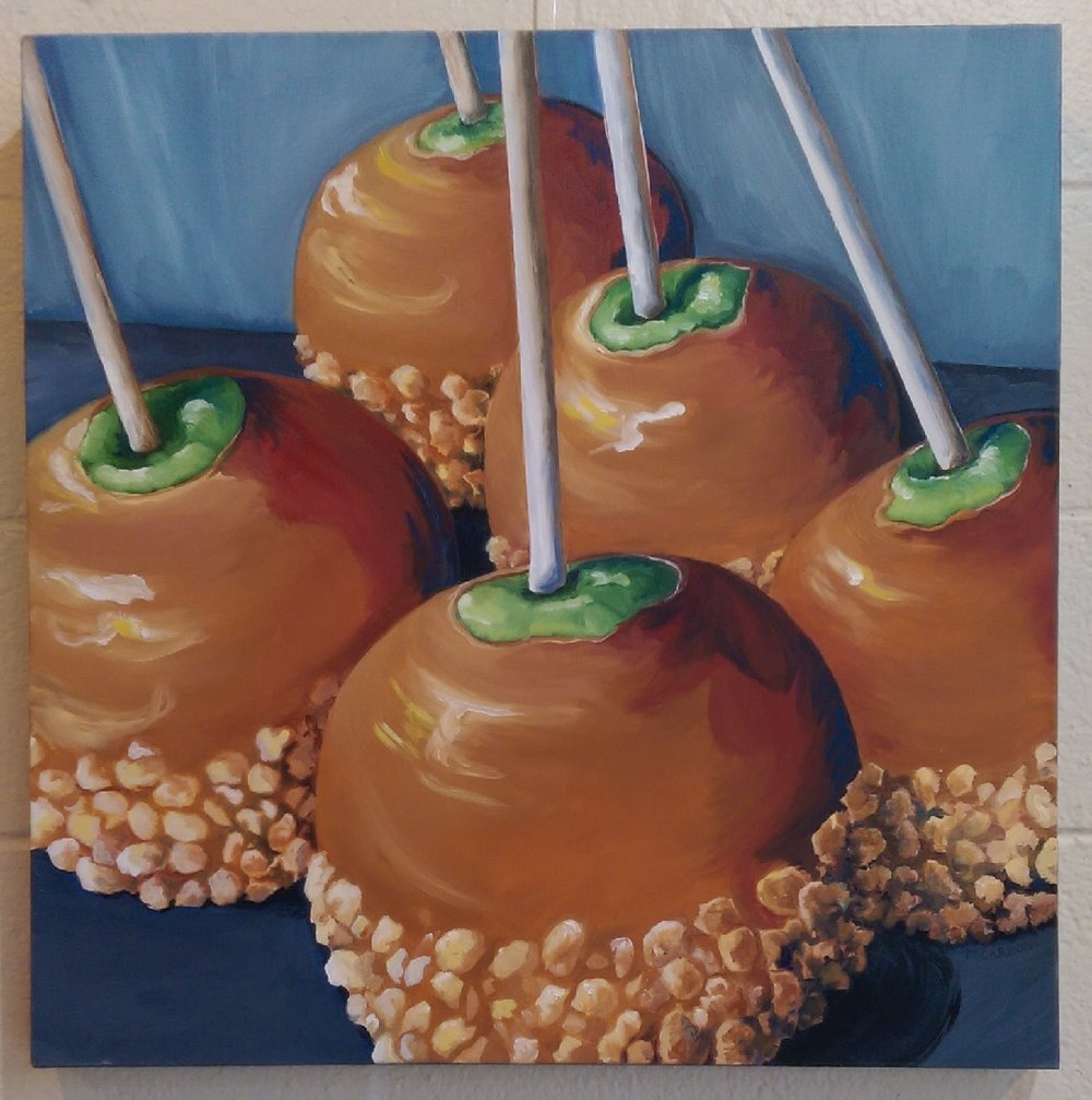Mary Carboni - Caramel Apples - 24x24 Oil On Canvas.jpg