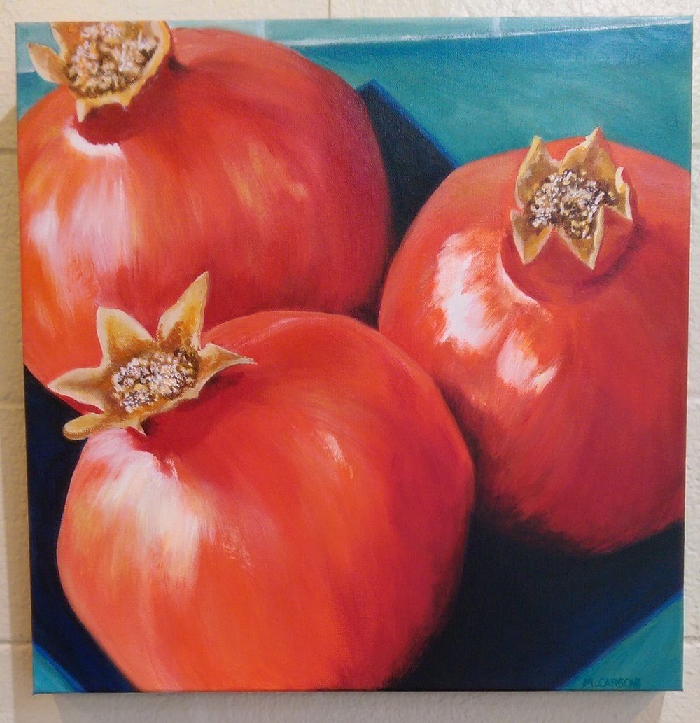 Mary Carboni - Poms - 20x20 Acrylic On Canvas.jpg