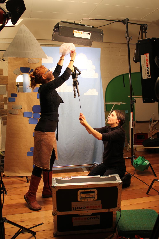 Directing SIr Dancealot, the film.