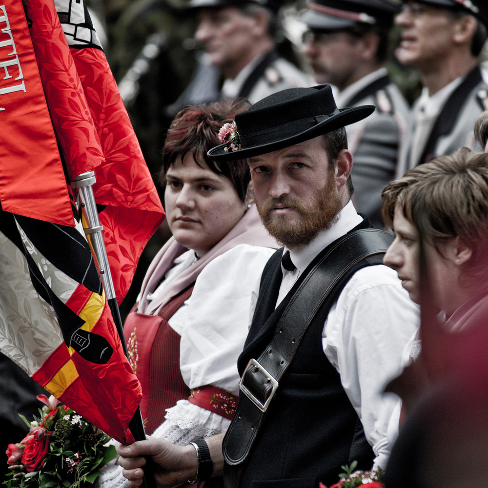 Trachtengruppe am Morgarten Schwyz