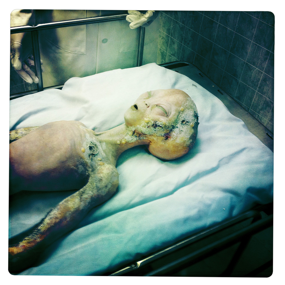 Fake Alien at the International UFO Museum and Research Center in Roswell NW New Mexico