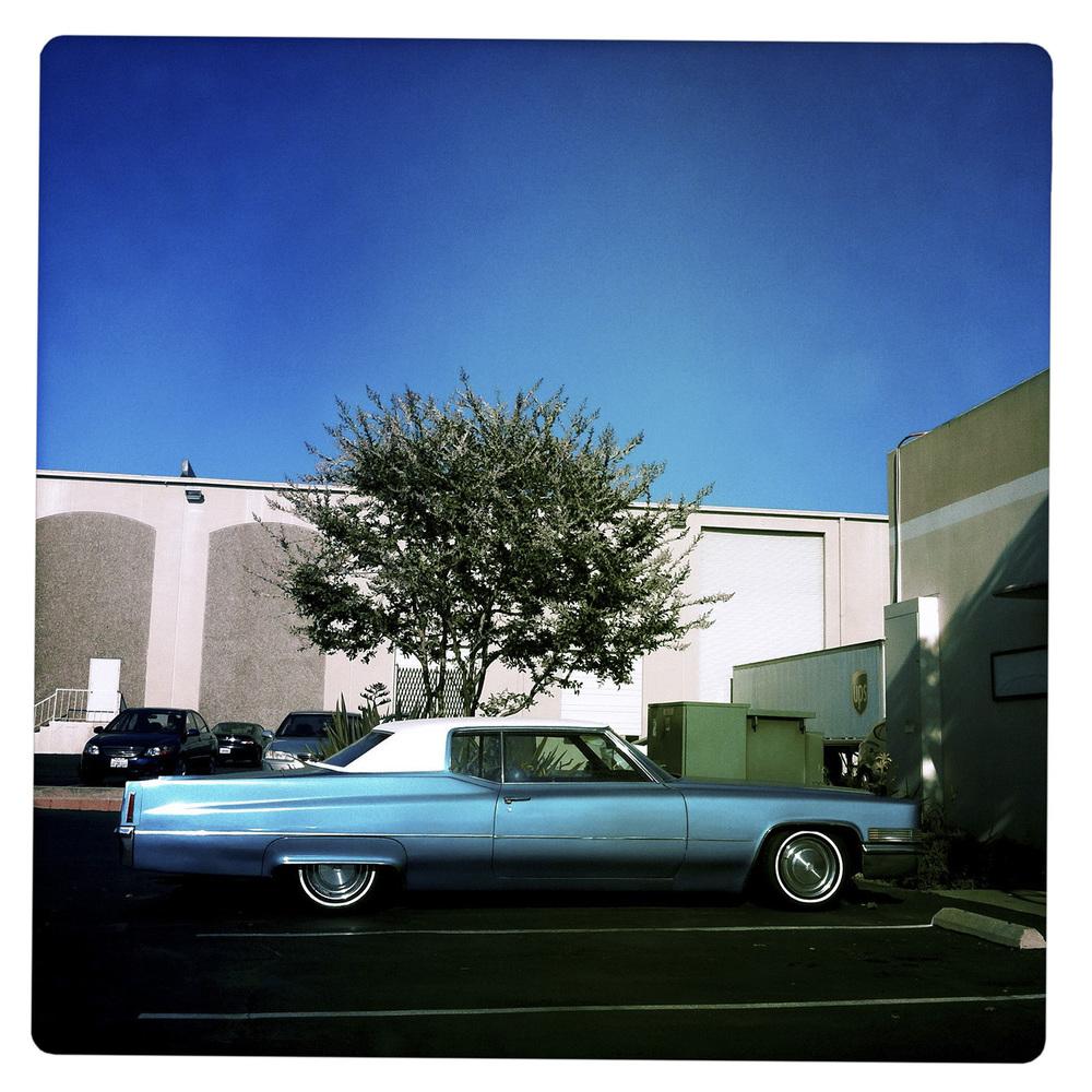 Limousine under blue Sky Los Angeles CA California
